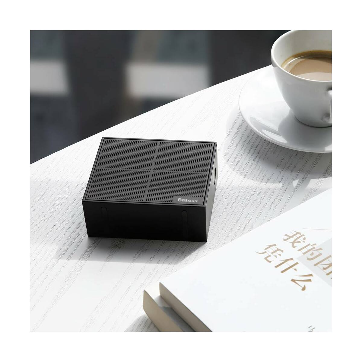 Baseus Hordozható hangszóró Bluetooth Encok E05 Music-cube, fekete (NGE05-01)