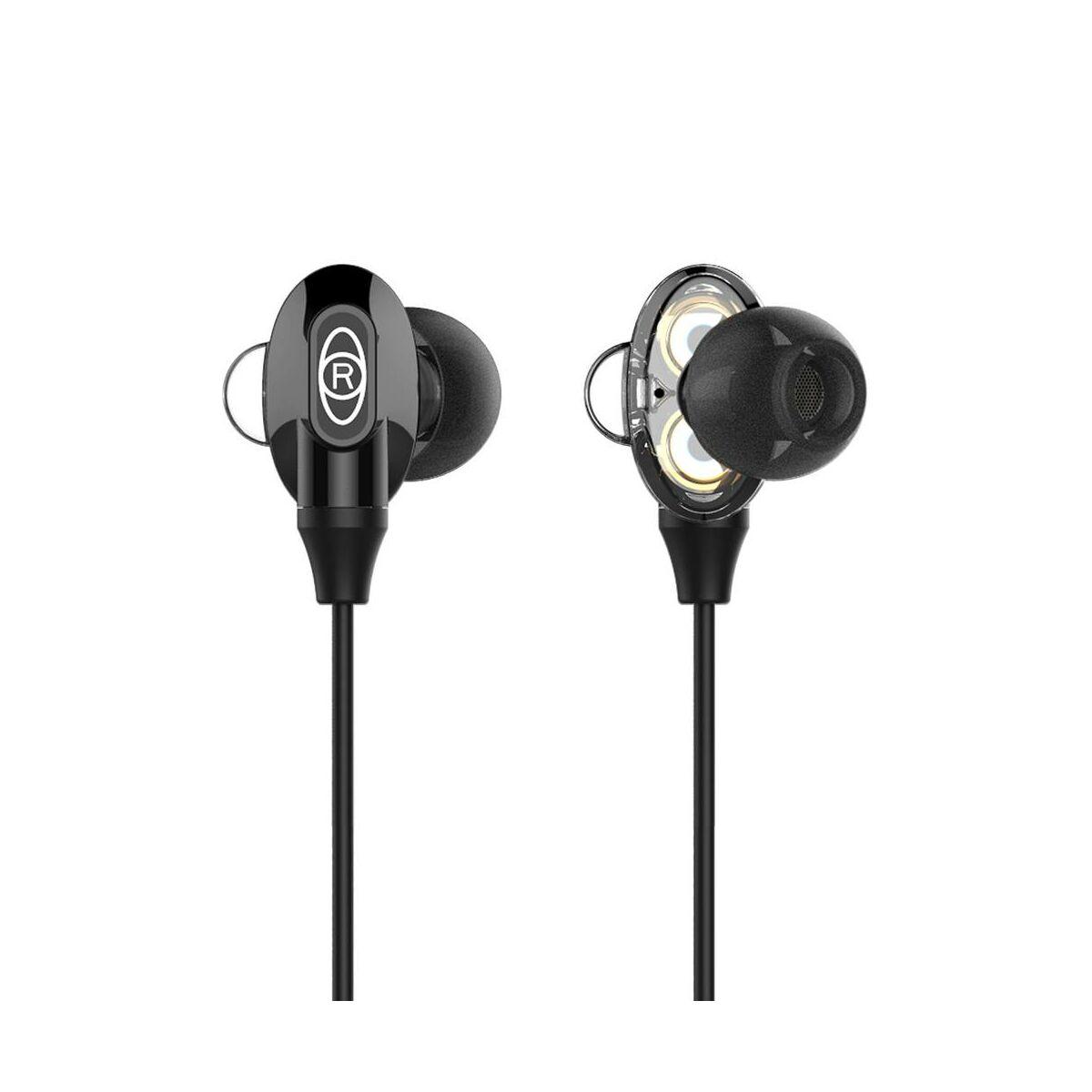 Baseus fülhallgató, Encok H08 Immersive virtual 3D gaming, mini jack, vezetékes, vezérlővel, fekete (NGH08-01)