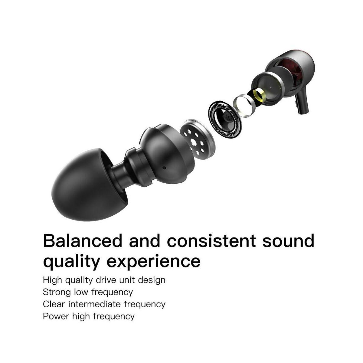 Baseus fülhallgató, Encok P02 Lightning Call Digital, vezetékes, fekete/szürke (NGP02-1G)