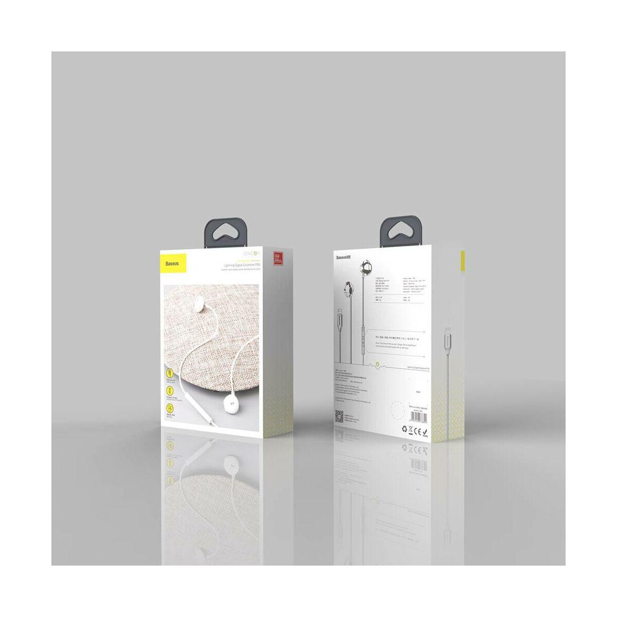 Baseus fülhallgató, Encok P06 Lightning Call Digital, vezetékes, ezüst (NGP06-0S)