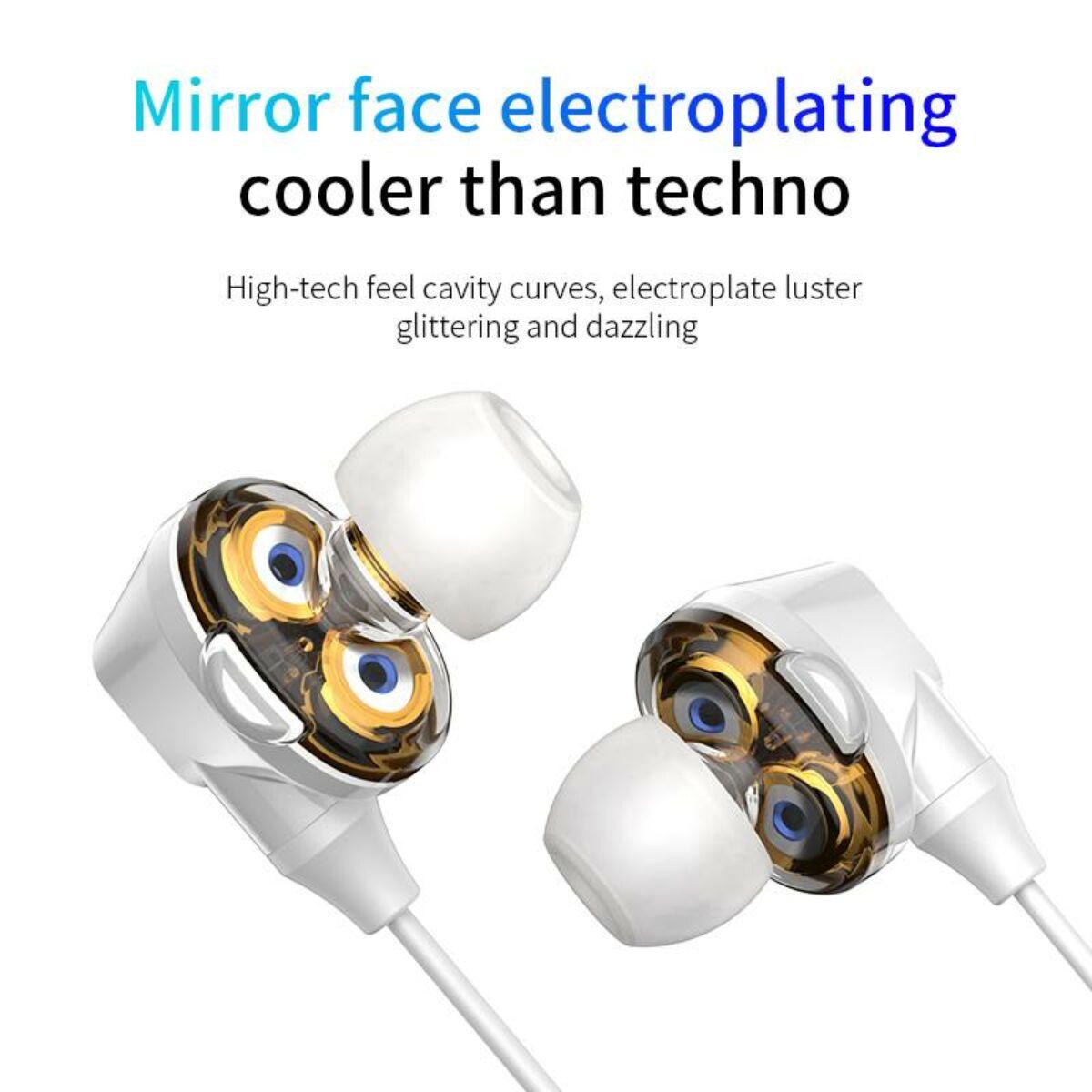 Baseus fülhallgató, Bluetooth Encok S10 Dual Moving-Coil vezeték nélküli headset, vezérlővel, fehér (NGS10-02)