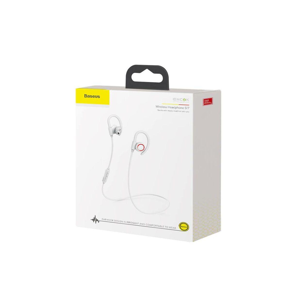 Baseus fülhallgató, Bluetooth Encok S17, vezeték nélküli, fehér (NGS17-02)
