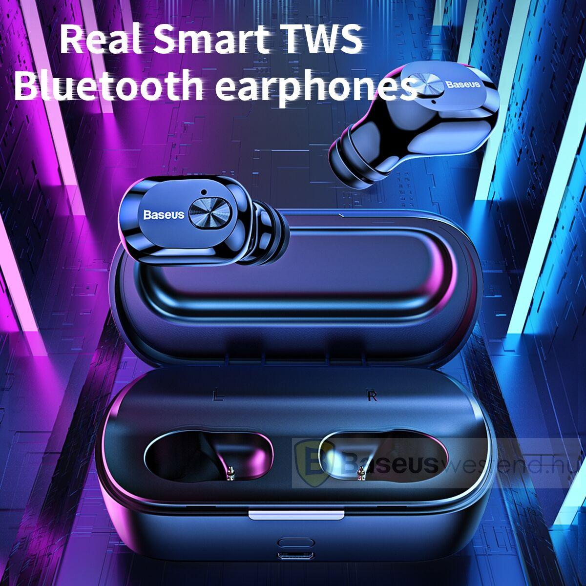 Baseus fülhallgató, Bluetooth Encok W01, vezeték nélküli, fekete (NGW01-01)