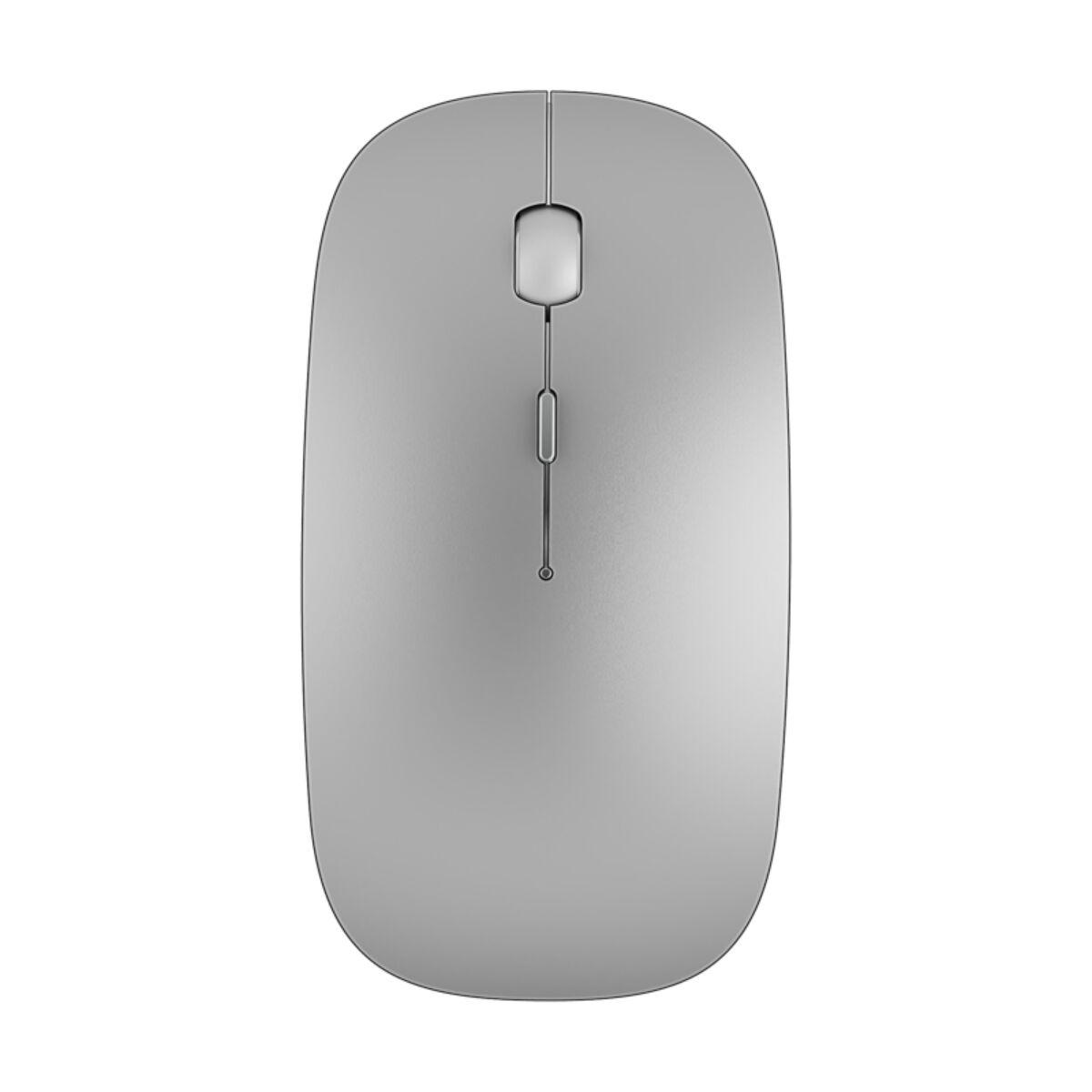 WiWU Egér, Wimic Lite WM101, Bluetooth és vezeték nélküli kapcsolódás, 450 mAh, Ezüst