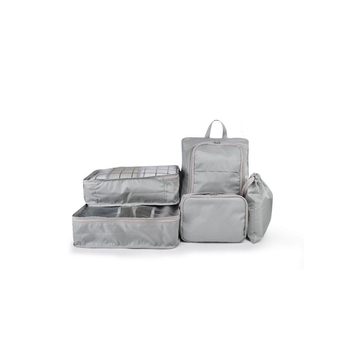 WiWu kézi táska, 6-in-1 börönd rendező szett utazáshoz, szürke