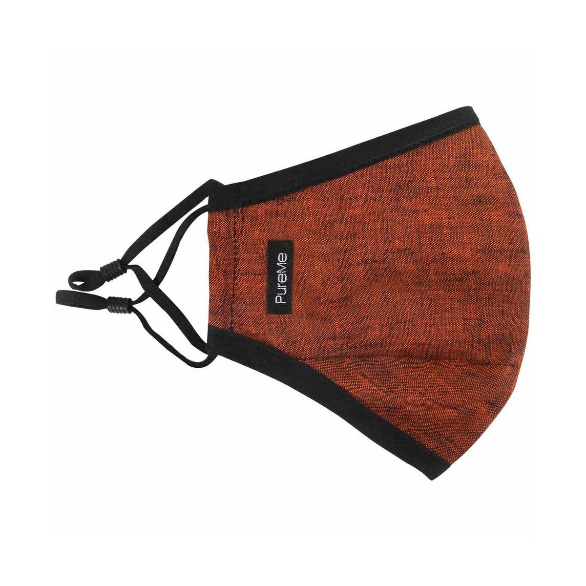 PureMe Maszk, Újrafelhasználható, Állítható füllel, Vászon, 2db N95 szűrővel a csomagban, narancssárga