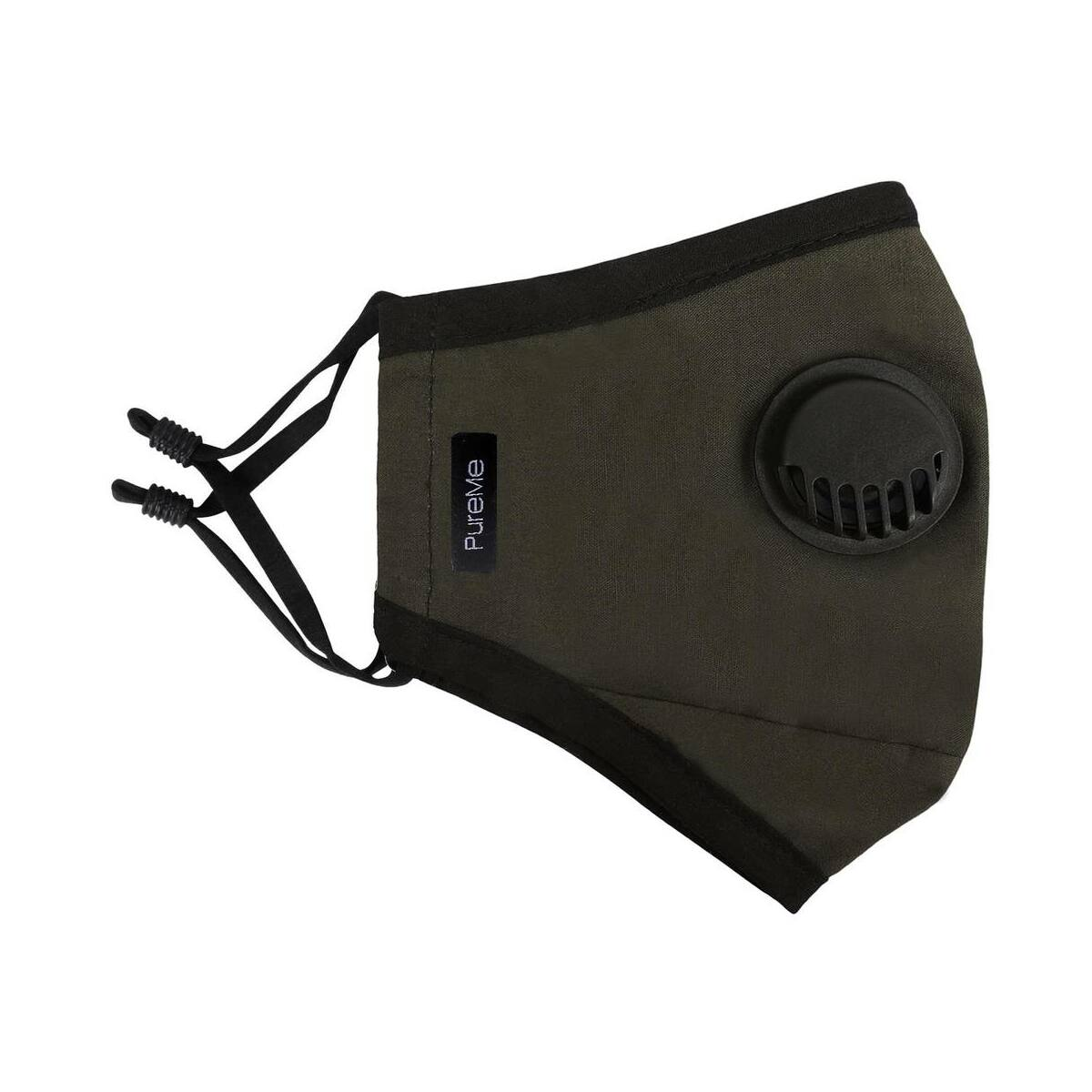 PureMe Maszk, Újrafelhasználható, Állítható füllel, Pamut, 2db N95 szűrővel a csomagban, zöld