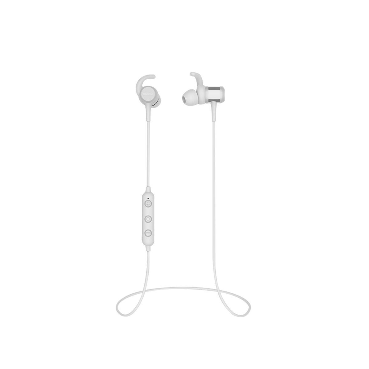QCY-M1C Bluetooth 5.0 fülhallgató, töltőtokkal, fehér