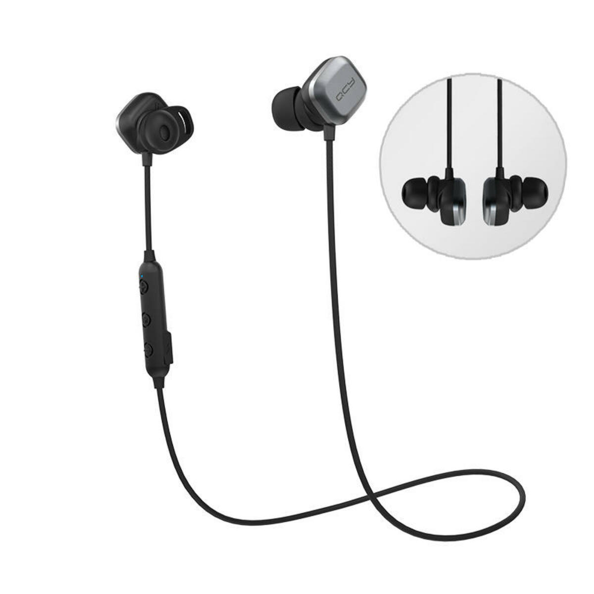 QCY-M1 PRO Sports Bluetooth 5.0 IPX4 vízálló fülhallgató, fekete