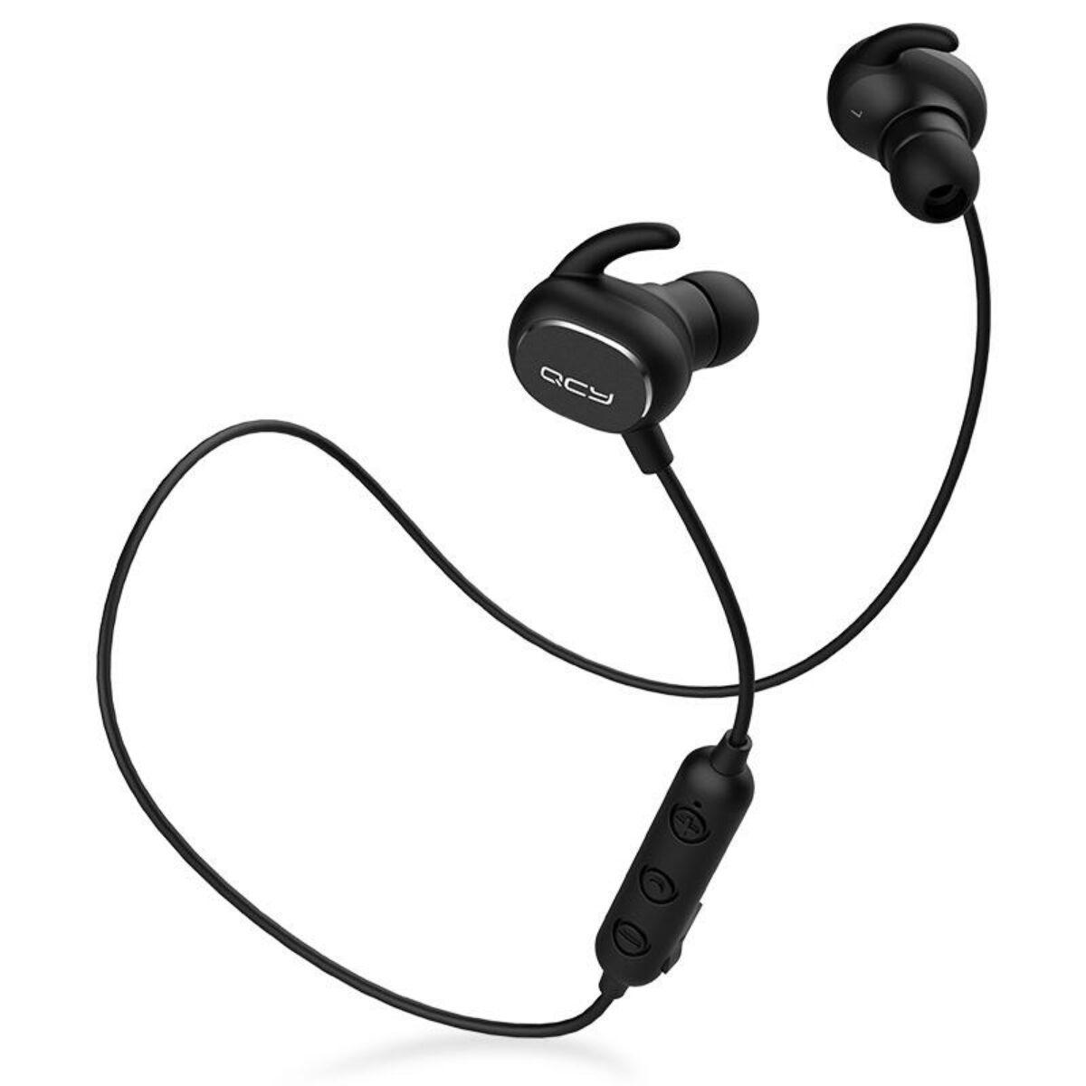QCY-QY19 Sport Bluetooth 5.0 sztereo fülhallgató mikrofonnal, fekete