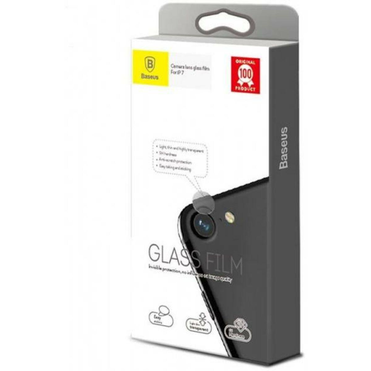 Baseus iPhone 7 kamera lencse üveg fólia 0.2 mm, átlátszó (SGAPIPH7-JT02)