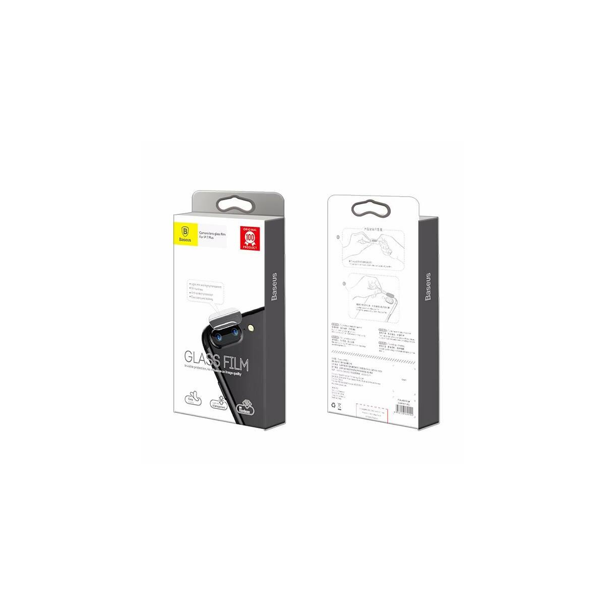 Baseus iPhone 7 Plus, kamera lencse üveg fólia 0.2 mm, átlátszó (SGAPIPH7P-JT02)