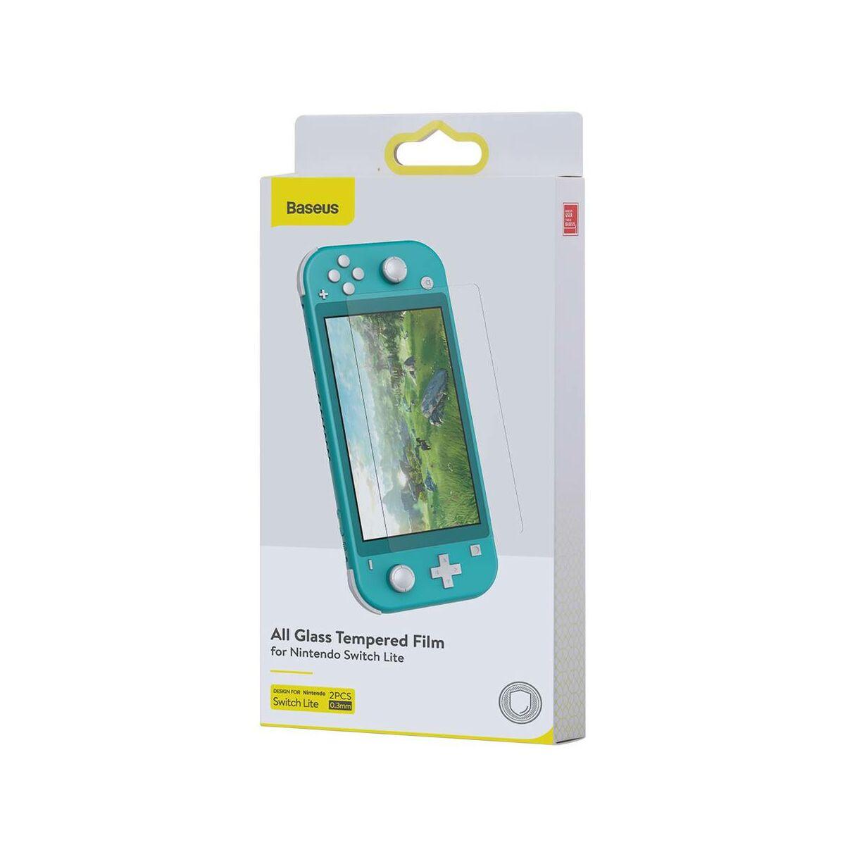 Baseus Nintendo Switch 0.3 mm, edzett üveg kijelzővédő (2db), átlátszó (SGNS-C02)