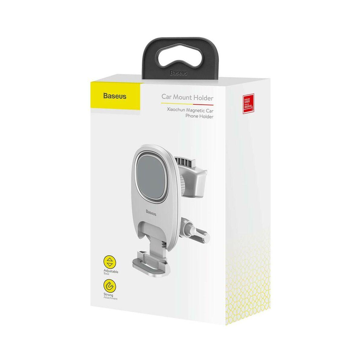 Baseus autós telefontartó, Xiaochun mágneses, szellőzőrácsra, fehér (SUCH-02)