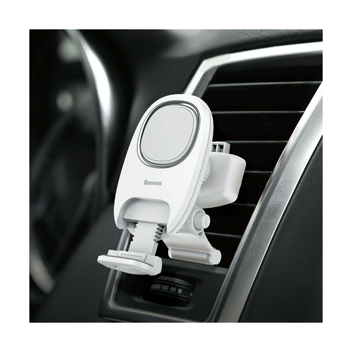 Baseus autós telefon tartó, Xiaochun mágneses, szellőzőrácsra, fehér (SUCH-02)