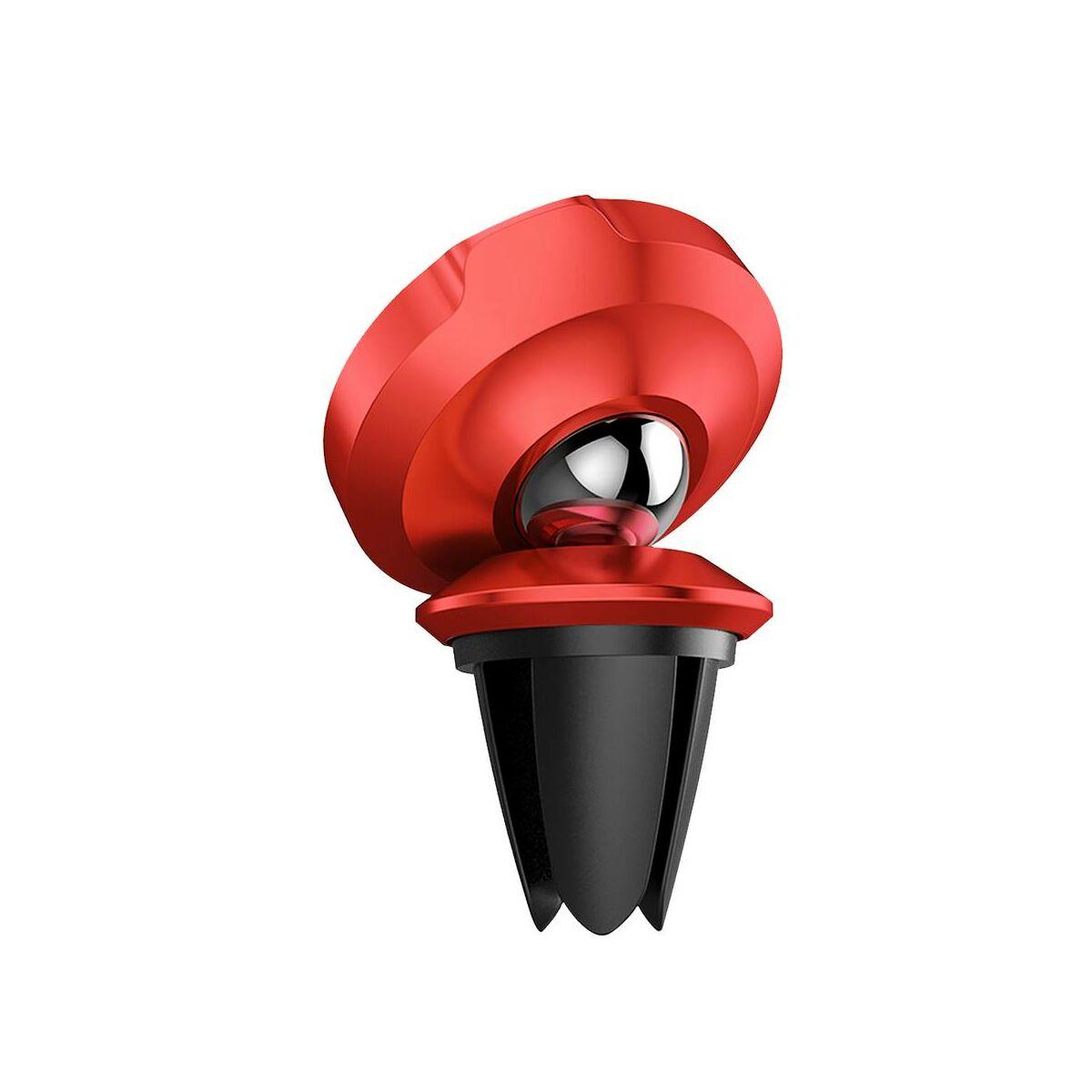 Baseus autós telefon tartó, Small Ears series mágneses, szellőzőrácsra, piros (SUER-A09)