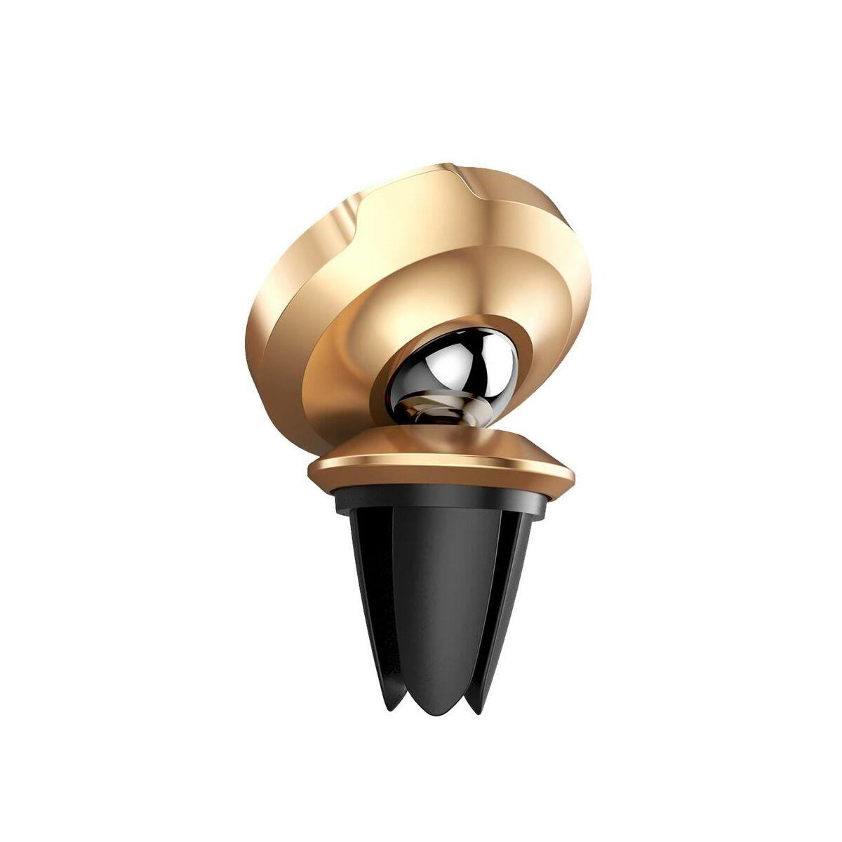 Baseus autós telefon tartó, Small Ears series mágneses, szellőzőrácsra, arany (SUER-A0V)