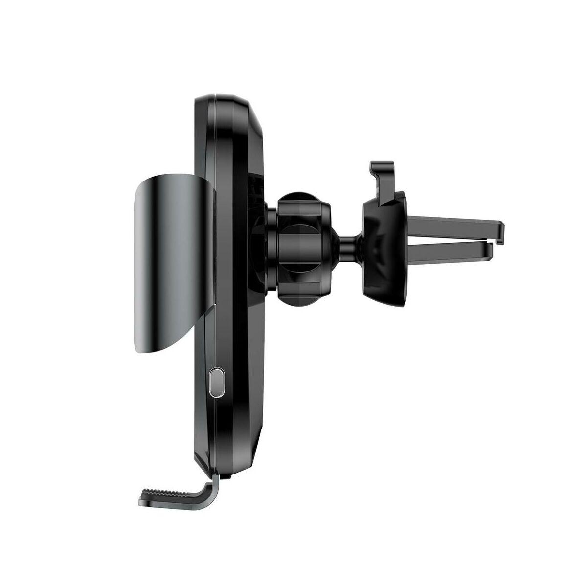 Baseus autós telefon tartó, Gravity szellőzőrácsra, automatikus nyitás-zárás, fekete (SUGENT-ZN01)