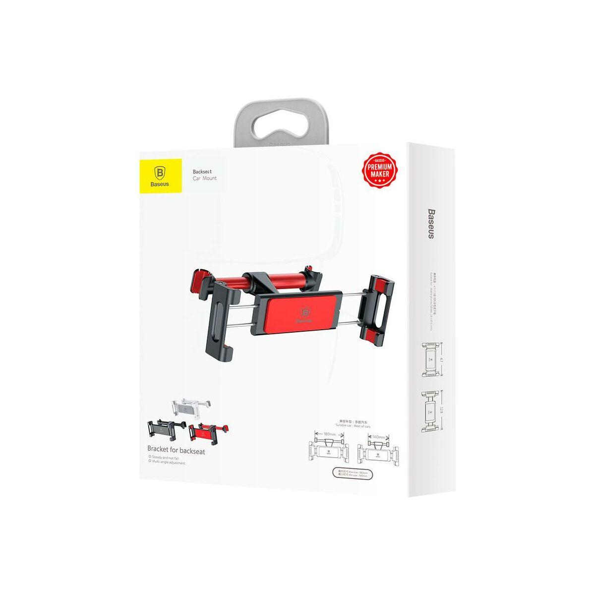 Baseus autós telefon/tablet tartó, első ülés fejtámlára, fekete/piros (SUHZ-91)