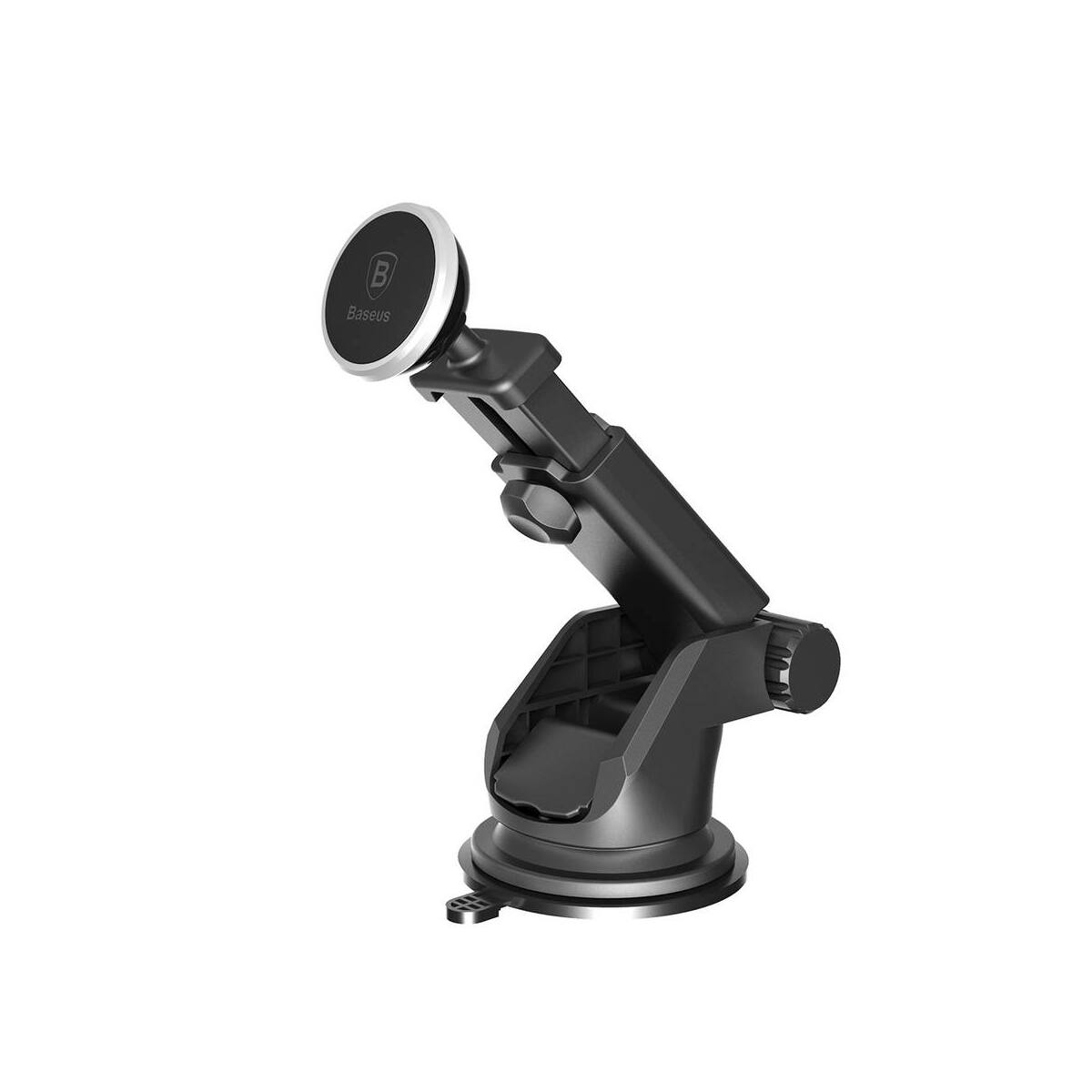 Baseus autós telefon tartó, Solid series, kihúzható teleszkópos, mágneses, műszerfalra, ezüst (SULX-0S)
