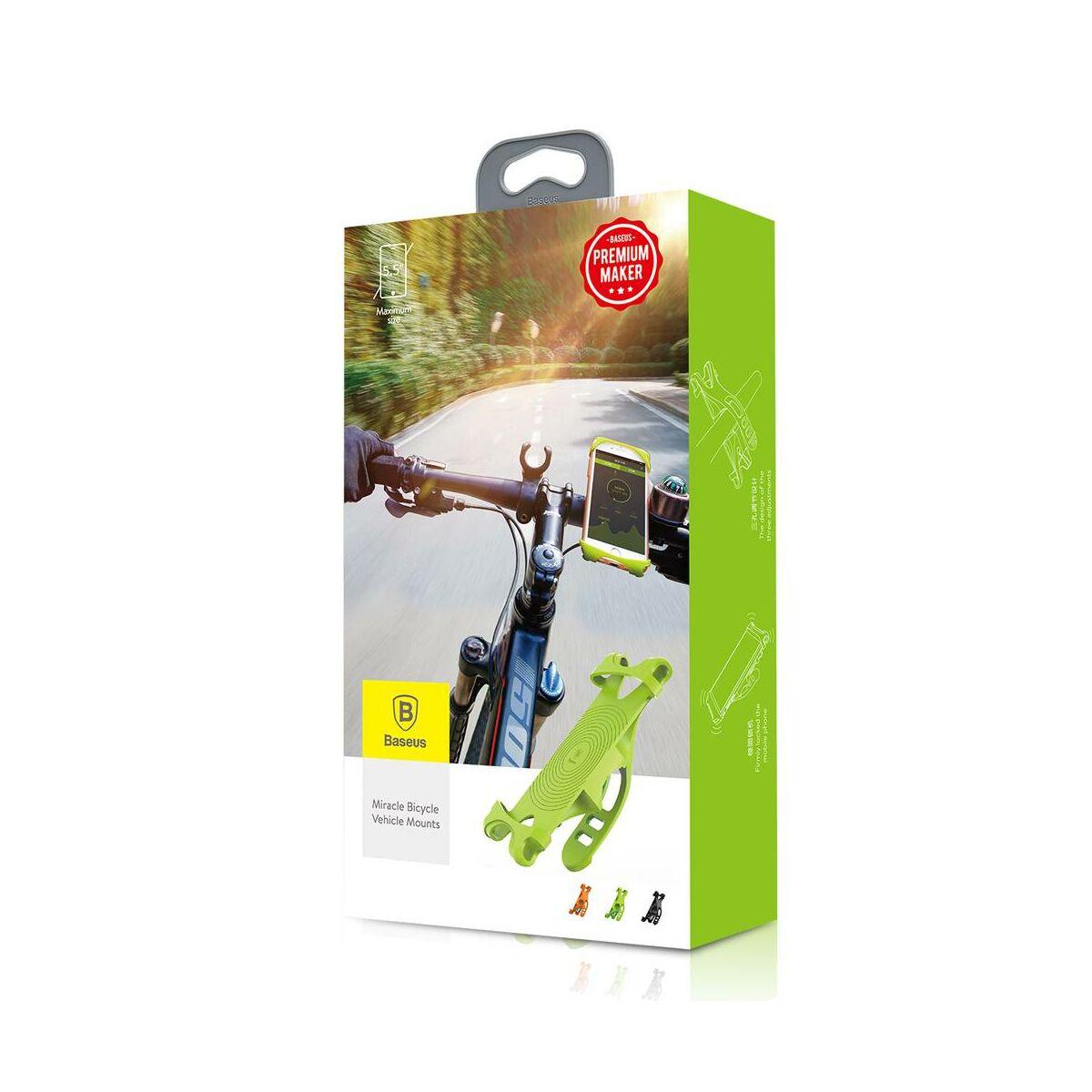 Baseus Miracle mobiltelefontartó, biciklire, zöld (SUMIR-BY06)