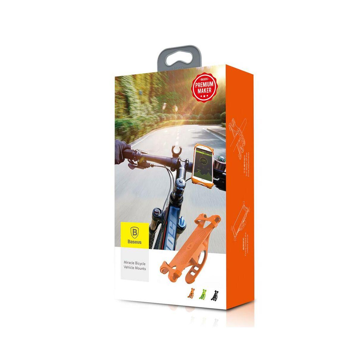 Baseus Miracle mobiltelefontartó, biciklire, narancssárga (SUMIR-BY07)
