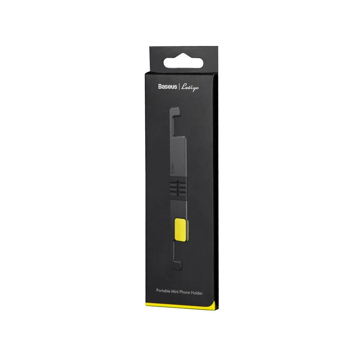 Baseus Univerzális telefon tartó, Lets go mini, hordozható, állítható betekintési szög, szürke/sárga (SUPM-GY)
