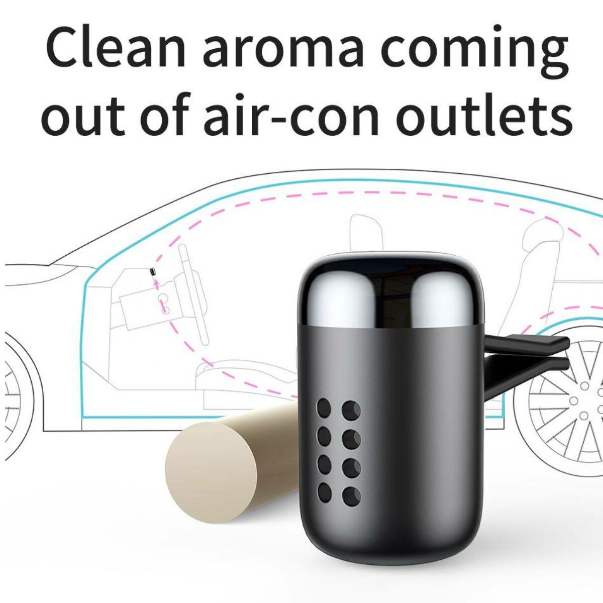 Baseus autós illatosító, Little Fatty, fekete (SUXUN-PD01)