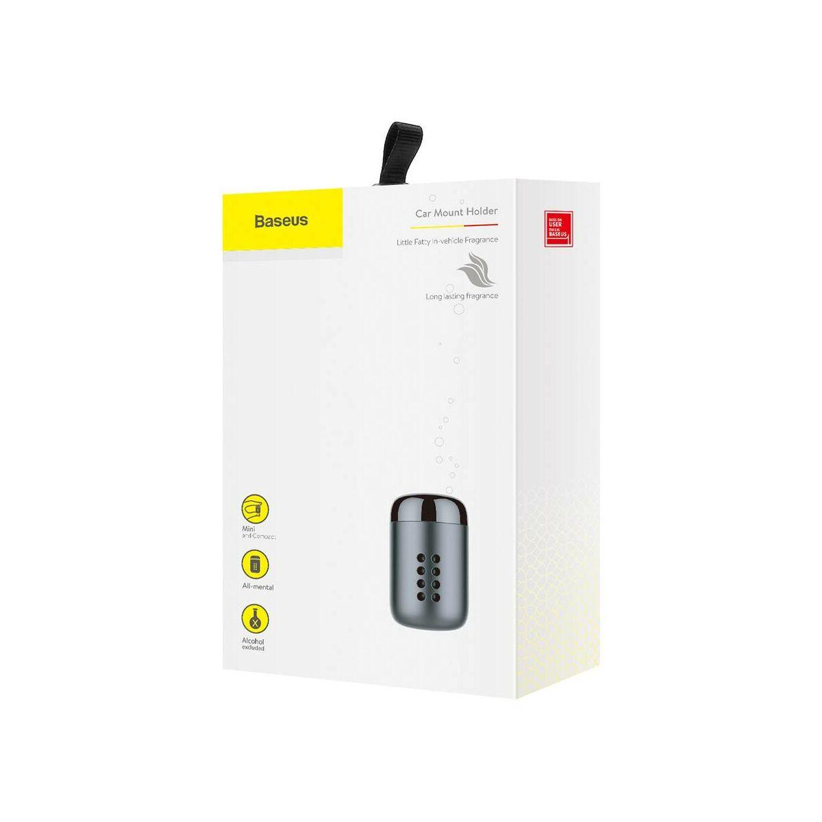 Baseus autós illatosító, Little Fatty, 5db-os parfümmel, fekete (SUXUN-PDA01)