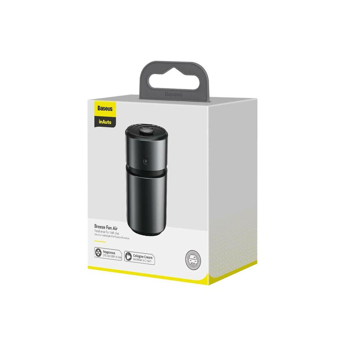 Baseus illatosító autóba, ventilátoros légfrissítő (with Formaldehides tisztító funkcióval) fekete (SUXUN-WF01)