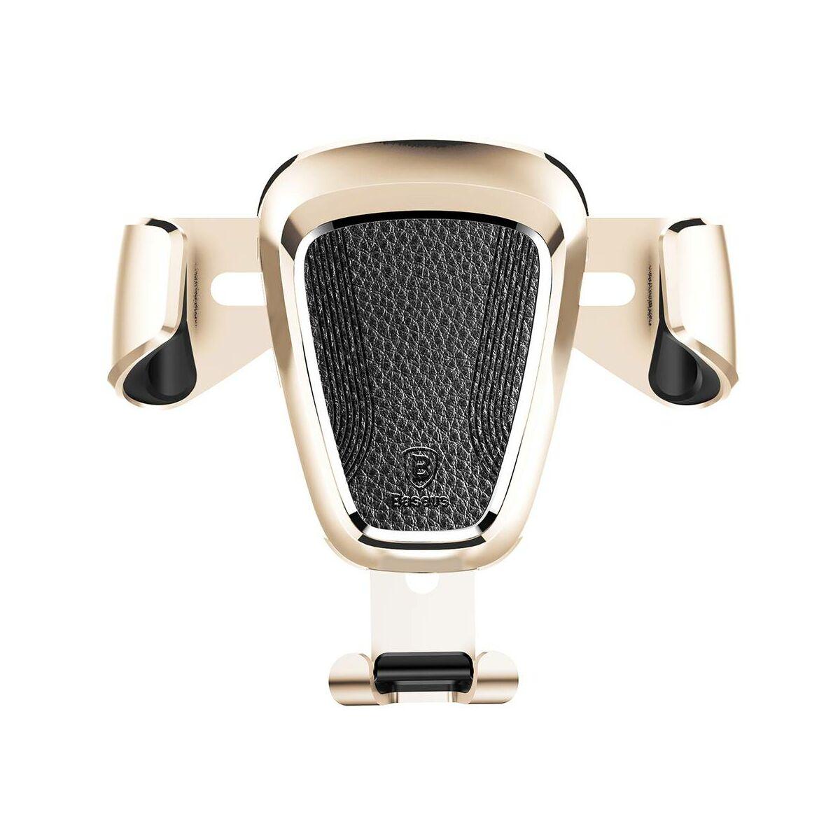 Baseus autós telefon tartó, Gravity (Fém), szellőzőrácsra, arany (SUYL-B0V)