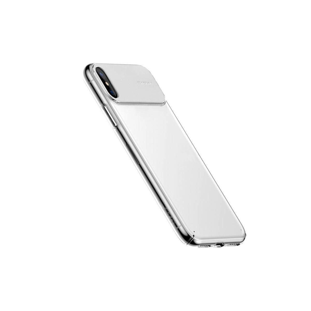 Baseus iPhone XS tok, Comfortable, fehér (WIAPIPH58-SS02)