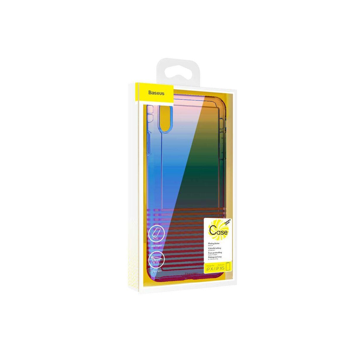 Baseus iPhone XS tok, Colorful Airbag, fekete (WIAPIPH58-XC01)