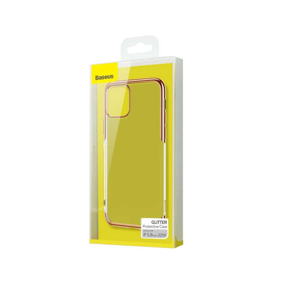 Baseus iPhone 11 Pro tok, Glitter, arany (WIAPIPH58S-DW0V)