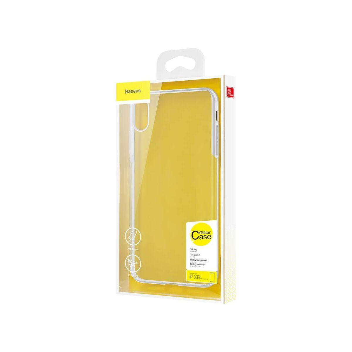 Baseus iPhone XR tok, Glitter, fehér (WIAPIPH61-DW02)