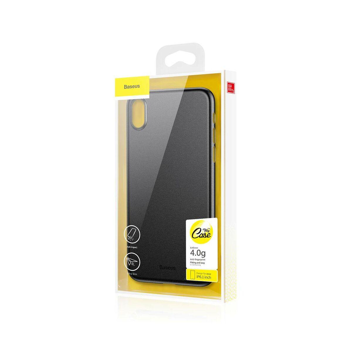Baseus iPhone XR tok, Wing, fekete (WIAPIPH61-EA1)