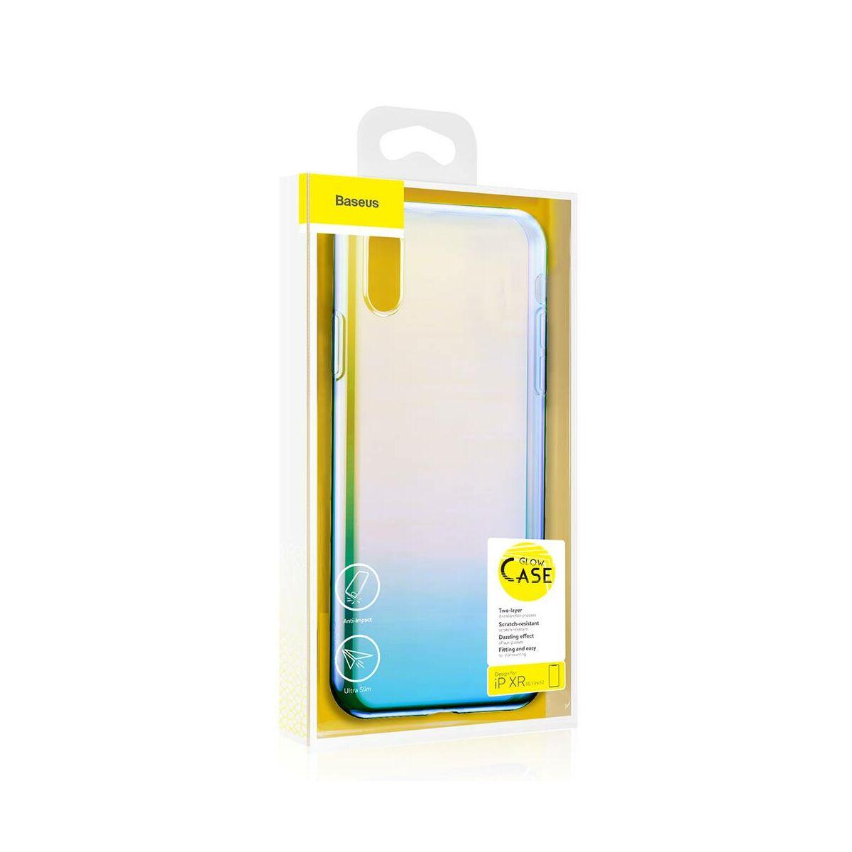 Baseus iPhone XR tok, Glow, átlátszó kék (WIAPIPH61-XG03)