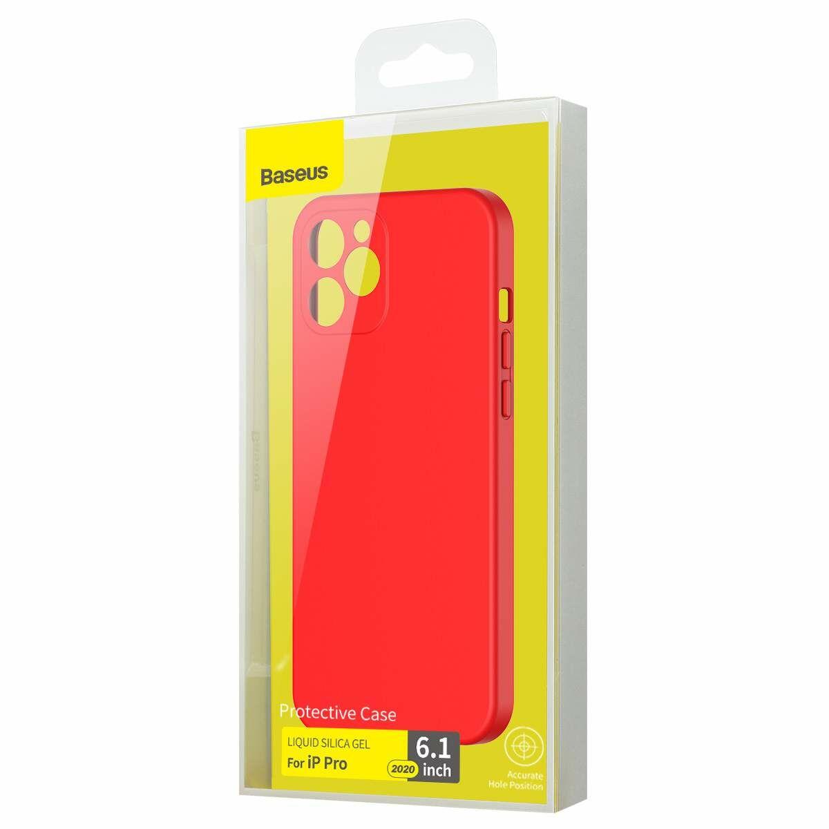 Baseus iPhone 12/12 Pro tok, Liquid Sicila Gel, piros (WIAPIPH61P-YT09)