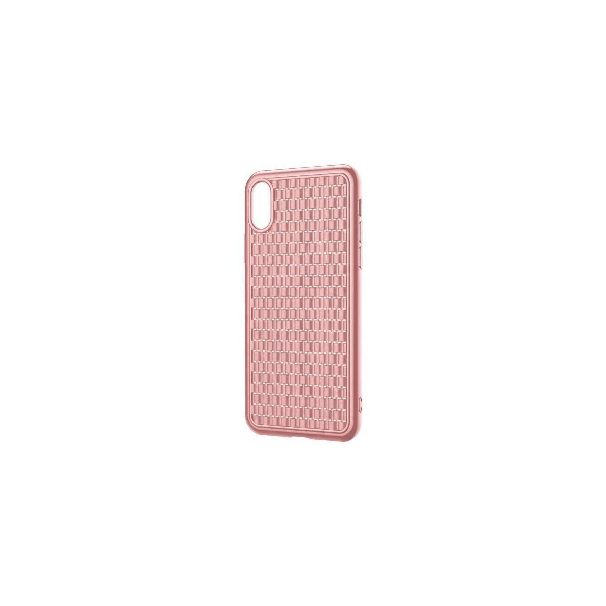Baseus iPhone XS Max tok, BV, 2.generációs, rózsaszín (WIAPIPH65-BV04)