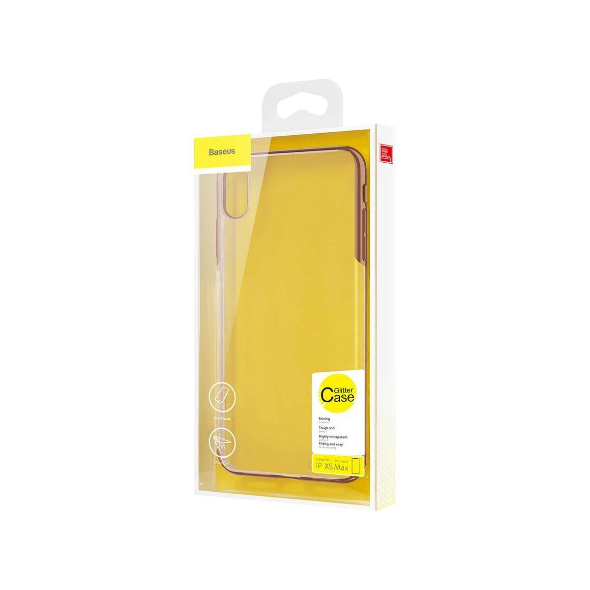 Baseus iPhone XS Max tok, Glitter, arany (WIAPIPH65-DW0V)
