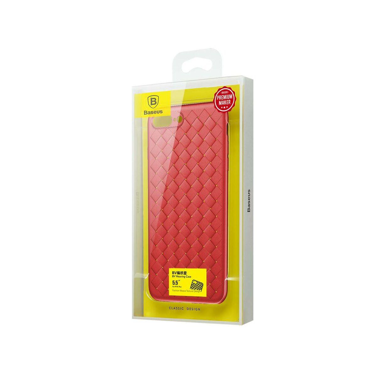 Baseus iPhone 8/7 Plus tok, BV Weaving, piros (WIAPIPH8P-BV09)
