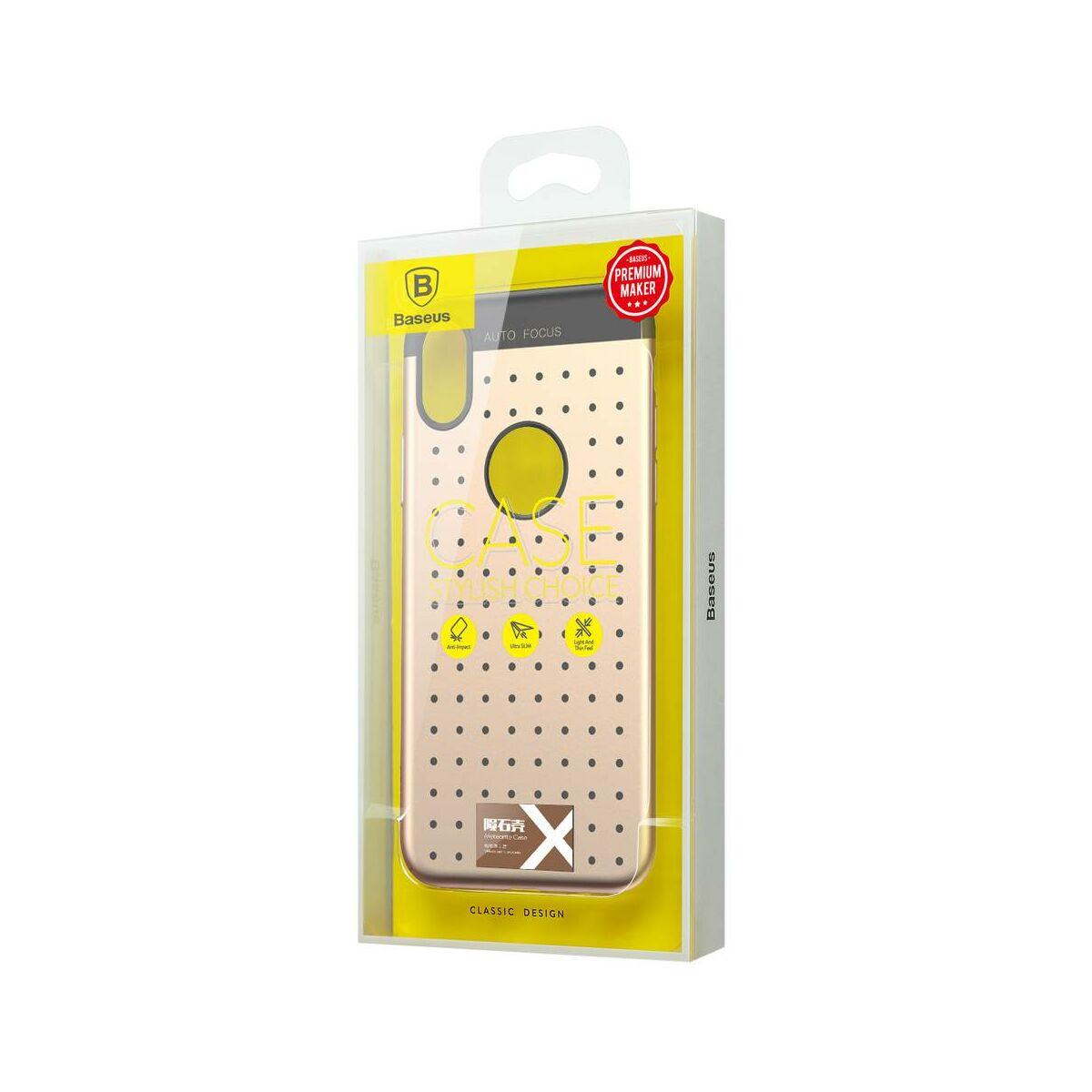 Baseus iPhone X/XS tok, Star lighting, arany (WIAPIPHX-ST0V)
