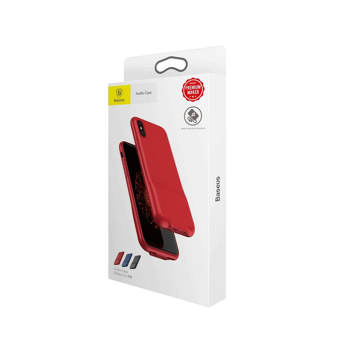 Baseus iPhone X/XS Audio tok, piros (WIAPIPHX-VI09)