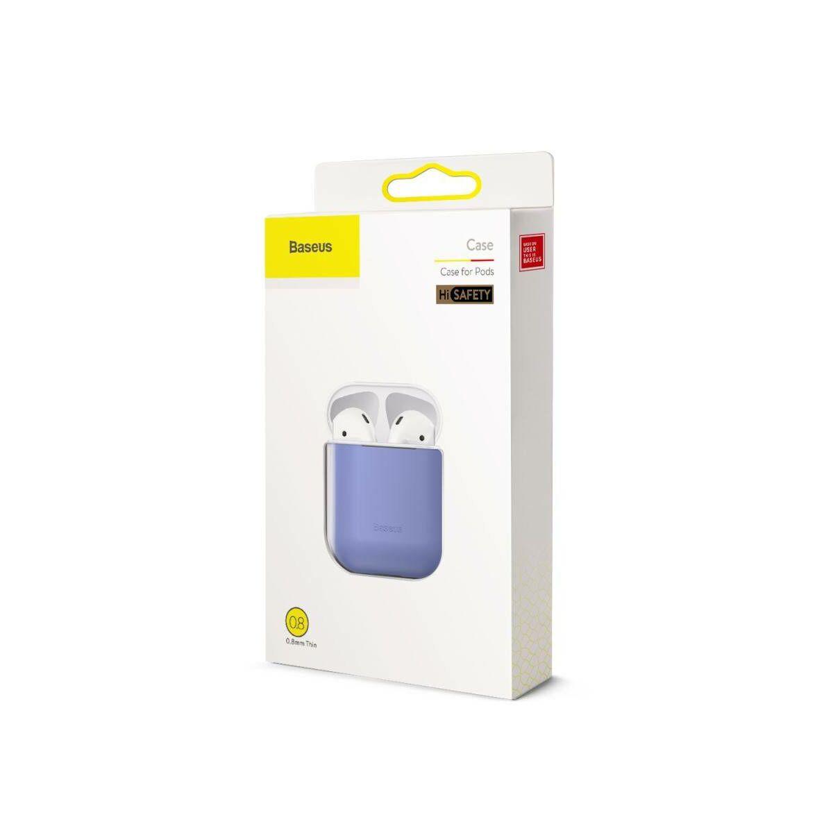 Baseus Airpods 2/1 tok, Ultrathin Series szilikon, lila (WIAPPOD-BZ05)