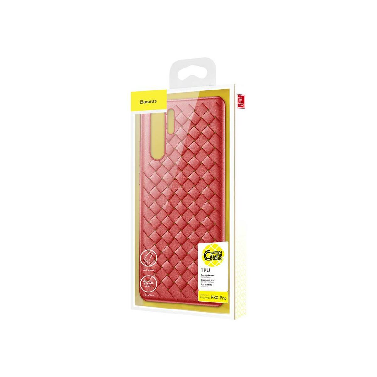Baseus Huawei P30 Pro tok, Weaving, piros (WIHWP30P-BV09)