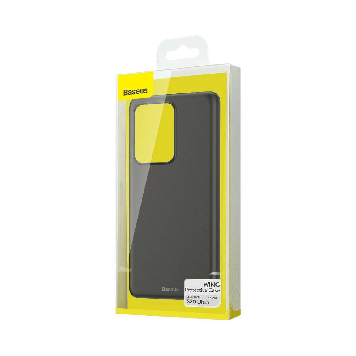 Baseus Samsung S20 Ultra tok, Wing, Solid, fekete (WISAS20U-A01)