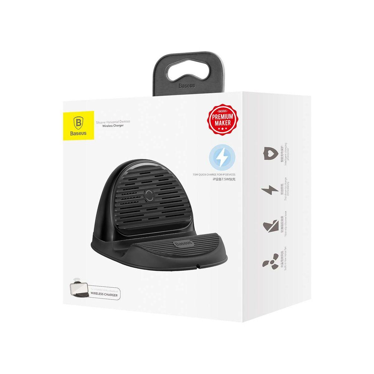 Baseus vezeték nélküli gyors töltés hűtőventilátorral és tartóval 10W, fekete (WXHSG-01)