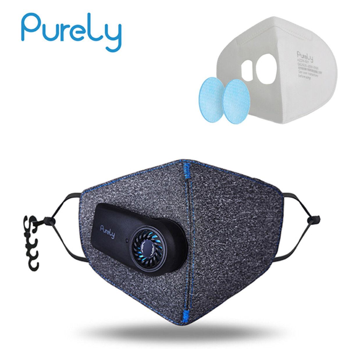 Xiaomi Mi Purely Anti-Pollution Air Face Mask, arcmaszk szűrővel, 550 mAh akkumulátorral, EU, HZSN001