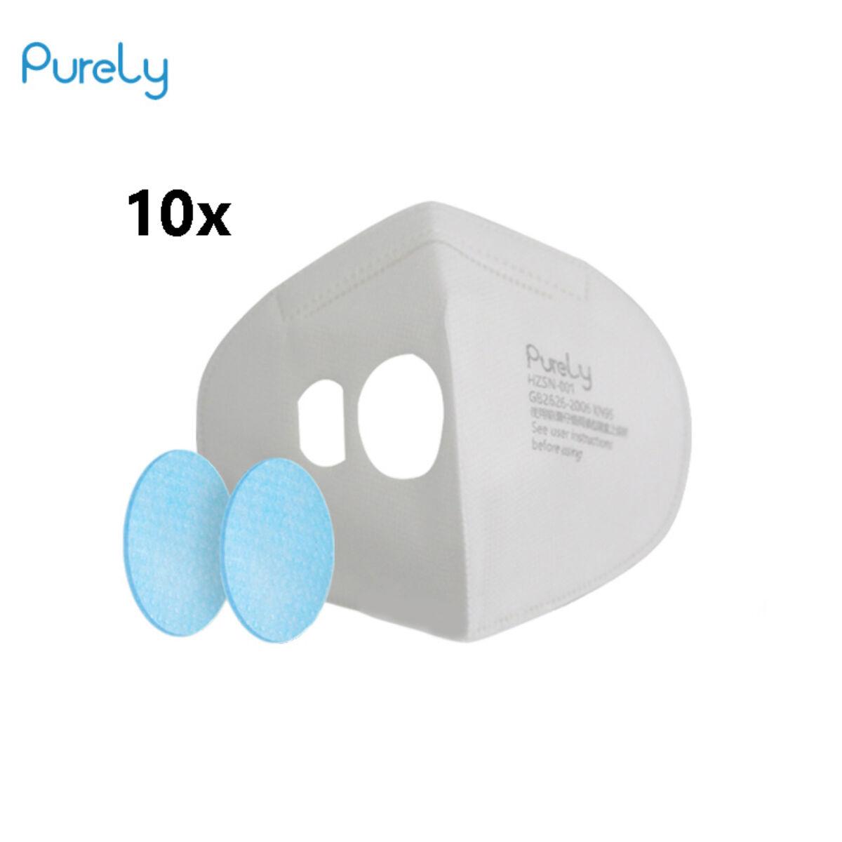 Xiaomi Mi Purely Anti-Pollution Air arc maszk 550mAh Filter 10db/csomag