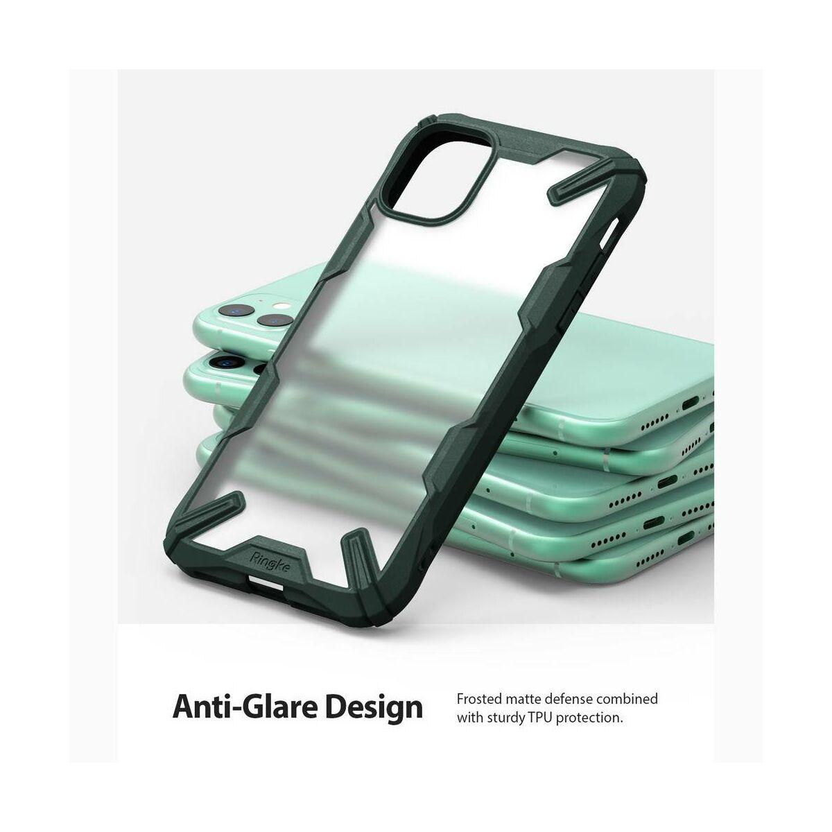 Ringke iPhone 11 tok, Fusion X, Matt, Sötétzöld